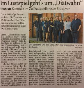 Ostfriesenzeitung vom 13.09.2018